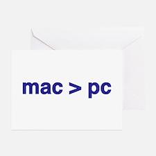 mac > pc - Greeting Cards (Pk of 10)