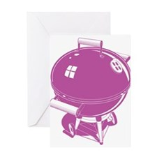 Pink BBQ Greeting Cards