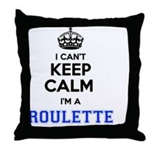 Funny Roulette Throw Pillow