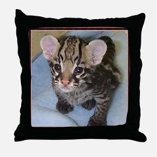 Baby Ocelot Throw Pillow