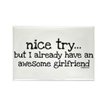 Awesome Girlfriend Awesome Rectangle Magnet (10 pa
