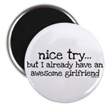 """Awesome Girlfriend Awesome 2.25"""" Magnet (10 pack)"""