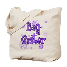 Purple big sister circles Tote Bag