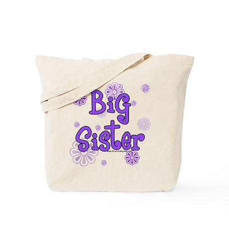 Purple big sister circles Tote Bag