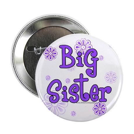 Purple big sister circles Button