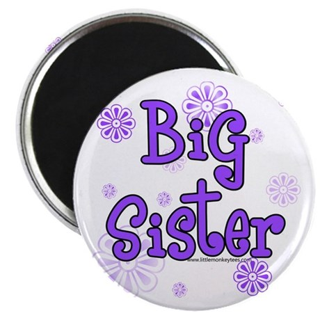 Purple big sister circles Magnet