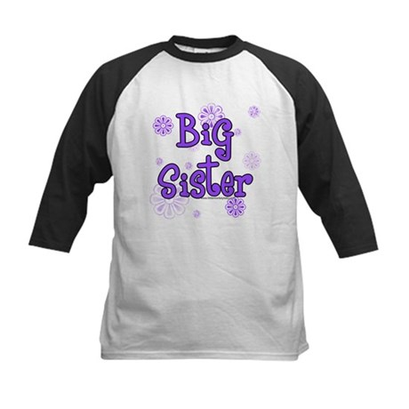 Purple big sister circles Kids Baseball Jersey