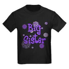Purple big sister circles Kids Dark T-Shirt