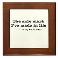 Only Mark Is In Underwear Framed Tile