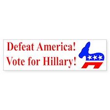 Vote for Hillary Bumper Bumper Sticker