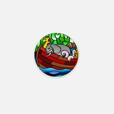 Noah's Ark Stained Glass Mini Button
