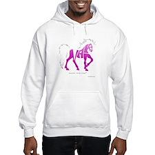 Nadia Pink Horse Hoodie Sweatshirt
