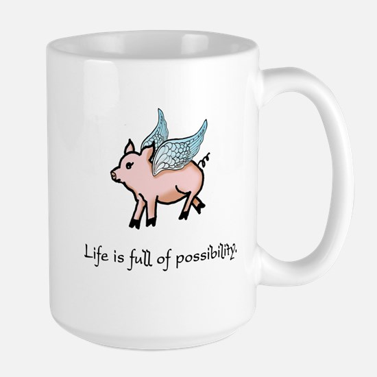 Flying Pig Stainless Steel Travel Mugs