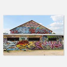 graffiti,stencil,spray pa Postcards (Package of 8)