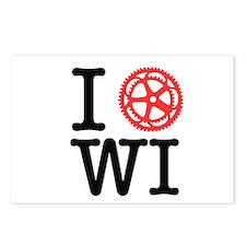I Bike WI Postcards (Package of 8)