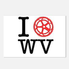 I Bike WV Postcards (Package of 8)
