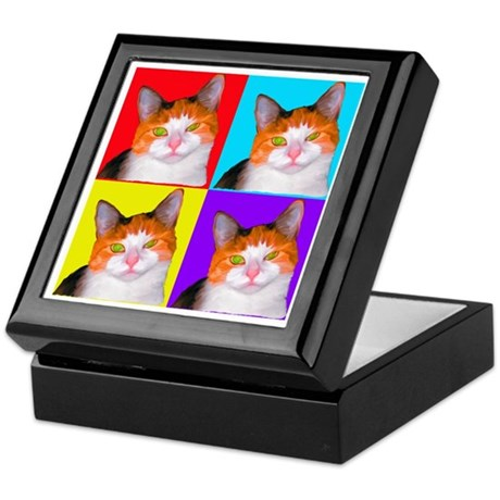 Cute Calico Keepsake Box