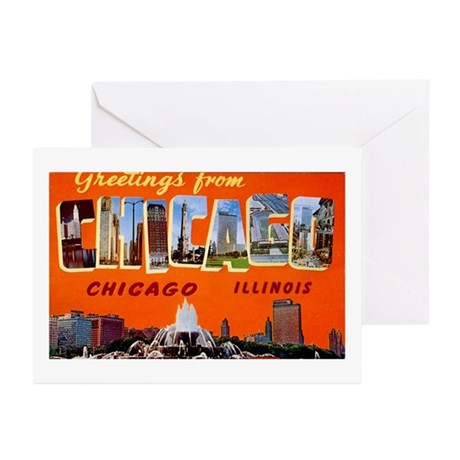 Chicago Illinois Greetings Greeting Cards (Package