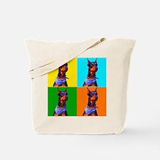 Daring Doberman Tote Bag