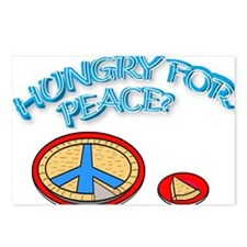 HUNGRY FOR PEACE? Postcards (Package of 8)