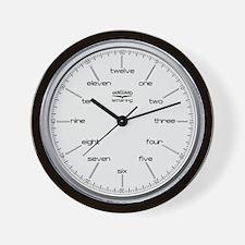Vanguard Lettering Wall Clock