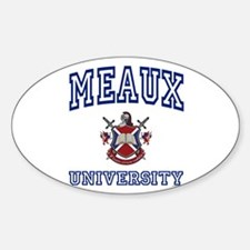 MEAUX University Oval Decal