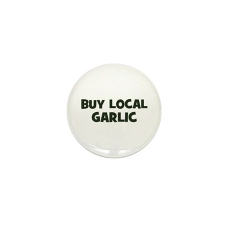 buy local garlic Mini Button (10 pack)