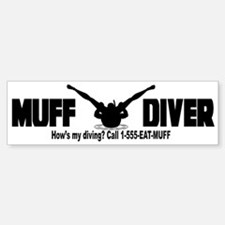 Muff Diving Bumper Bumper Bumper Sticker