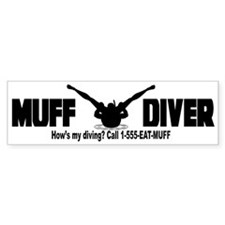 Muff Diving Bumper Bumper Sticker