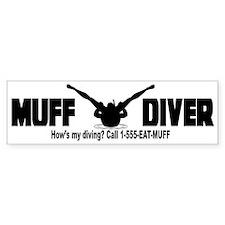 Muff Diving Bumper Car Sticker