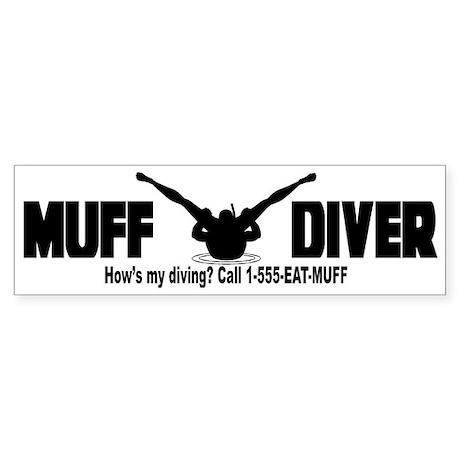 Muff Diving Bumper Sticker