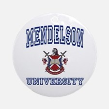 MENDELSON University Ornament (Round)
