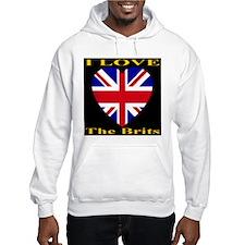 I Love The Brits Jumper Hoody