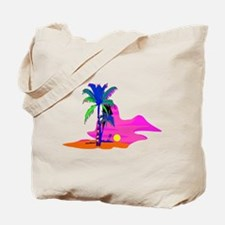 Palm Island Sunset Tote Bag