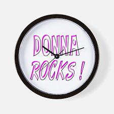 Donna Rocks! Wall Clock