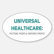 Universal Healthcare Oval Decal