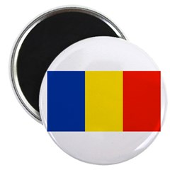 Romania Blank Flag Magnet