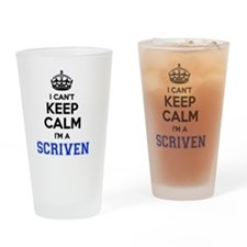Scrivener Drinking Glass