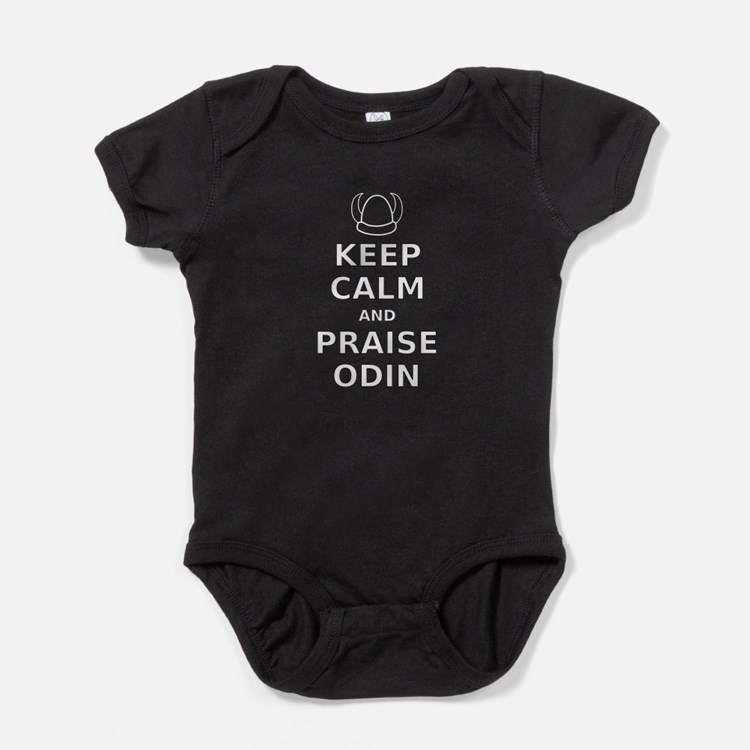 Keep Calm Praise Odin Baby Bodysuit