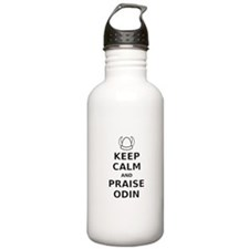 Keep Calm Praise Odin Water Bottle