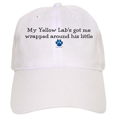 Wrapped Around His Paw (Yellow Lab) Cap