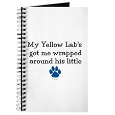 Wrapped Around His Paw (Yellow Lab) Journal
