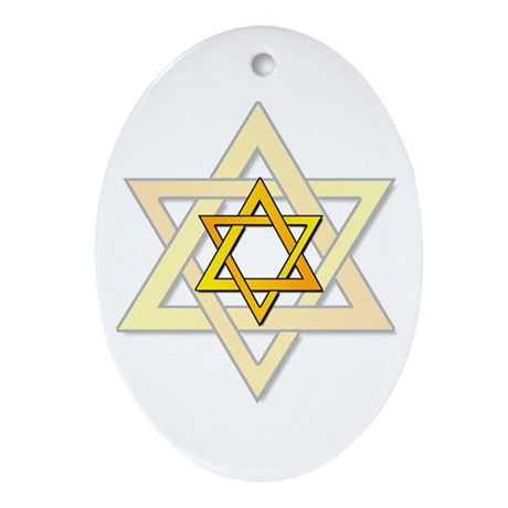 Judaism Star Of David Oval Ornament