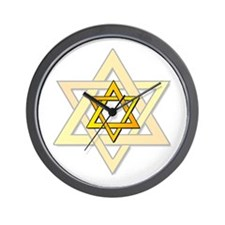 Judaism Star Of David Wall Clock