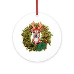 Italian Greyhound wreath Ornament (Round)