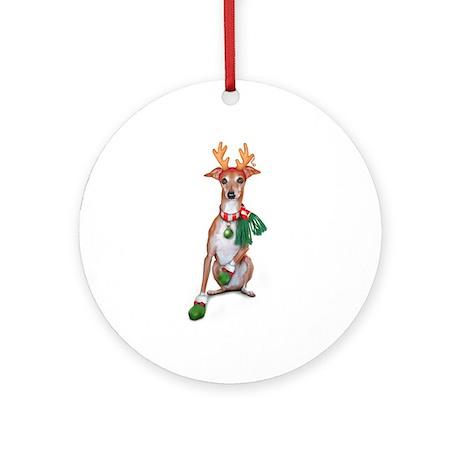 Italian Greyhound LiL IG Ornament (Round)
