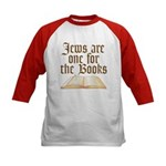 Jews are one for the Books Kids Baseball Jersey