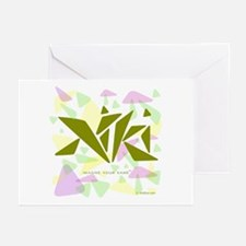 Niki Green Triangles Greeting Cards (Pk of 10)