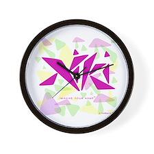 Niki Pink Triangles Wall Clock