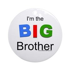 I'm the big brother BIG Ornament (Round)